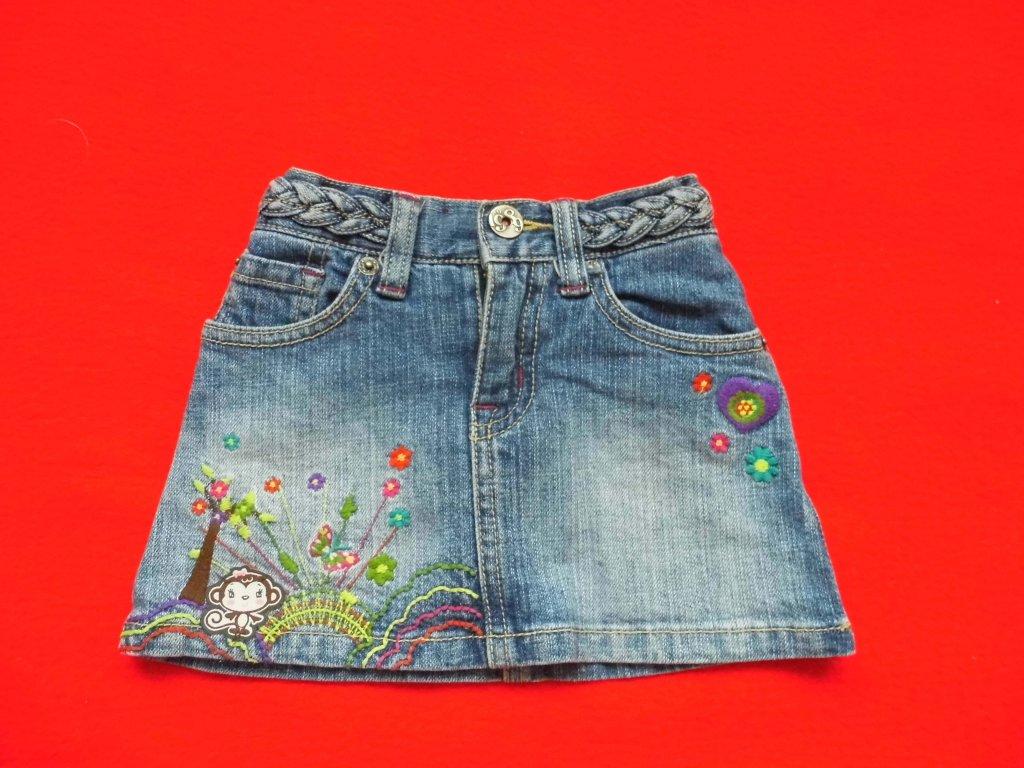 Dívčí riflová sukně. prev dc9a698365