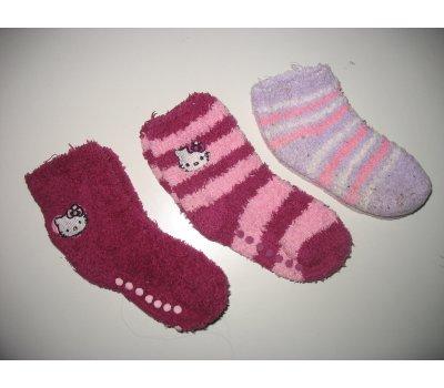 Dívčí froté ponožky Hello Kitty, vel. 23 - 25 (2 + 1 zdarma) Sanrio