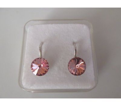 SWAROVSKI náušnice RIVOLI Light Rose 8mm-Ag925
