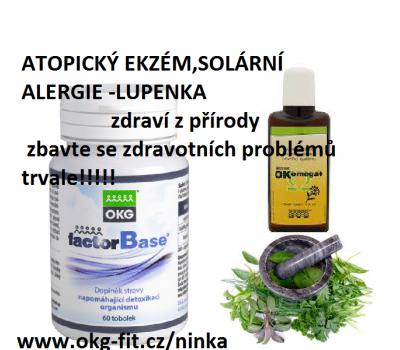 Atopický ekzém-solární alergie-lupenka