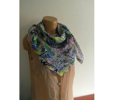 Dámská barevný šátek