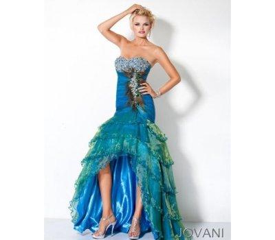 Luxusní paví šaty 8 JOVANI