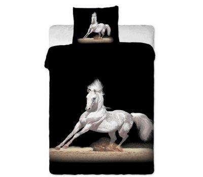 Povlečení na velkou postel fototisk Kůň bílý