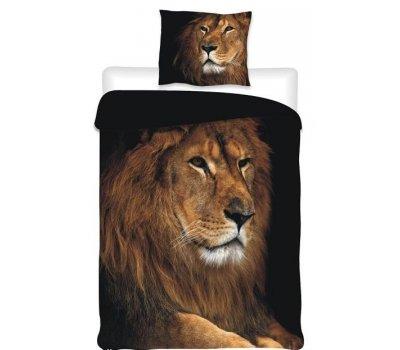 Povlečení na velkou postel fototisk Lev
