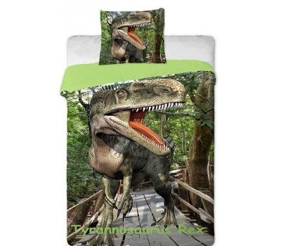 Povlečení na velkou postel fototisk Tyrannosaurus Rex