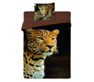 Povlečení na velkou postel fototisk Leopard