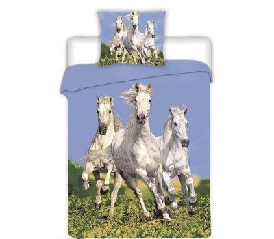 Povlečení na velkou postel fototisk Koně
