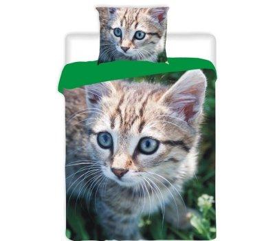 Povlečení na velkou postel fototisk Kotě