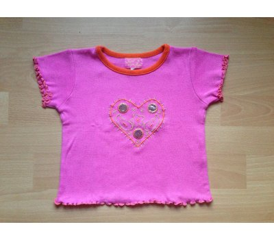 Tričko krátký rukáv, vel. 104 (3 - 4 roky) Vynil Fraise