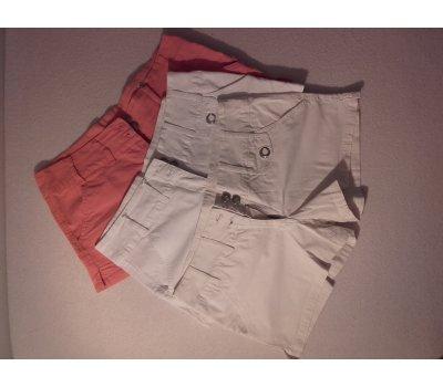 3x Dámské šortky * bílé * béžové * oranžové *