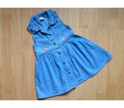 Riflové šaty, vel. 98/104