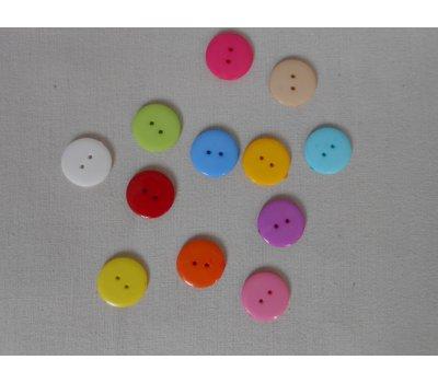 Barevné knoflíky průměr 2,2 cm.