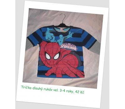 Triko s dlouhým rukávem Spiderman