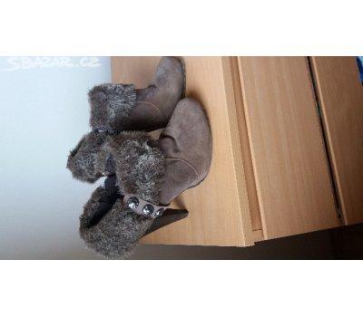 Dámské semišové kotníčkové boty Graceland