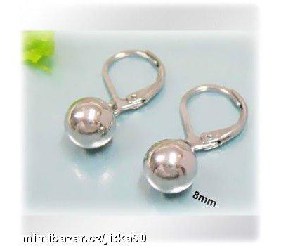 Náušnice perly z chirurgické oceli