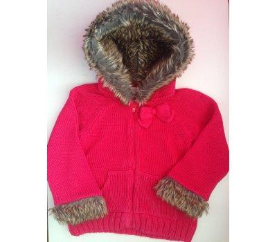 Dívčí červený svetr (2 - 4 roky)