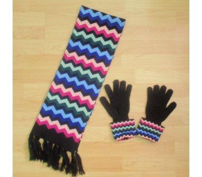 Dámský komplet šál a rukavice