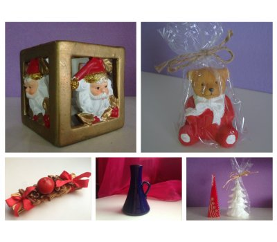 Vánoční svíčky a svícny