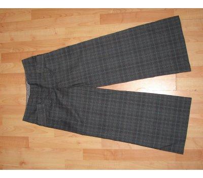 0501 Dámské kárované šedé 3/4 kalhoty Next