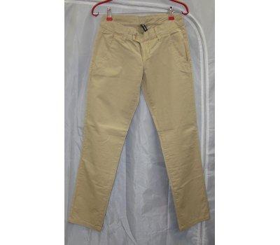 0506 Dámské kalhoty hezké béžové plátěné