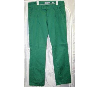 0507 Dámské kalhoty ,plátěné,zelené 38