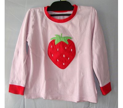 0551 tričko-mikina růžová s jahodou na donošení