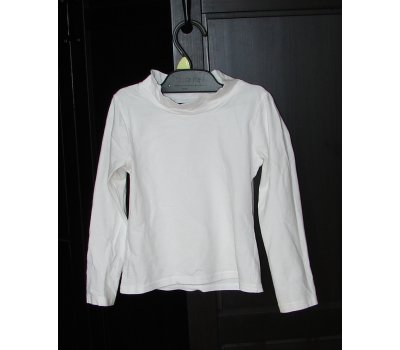 0556 bílé tričko dlouhý rukáv