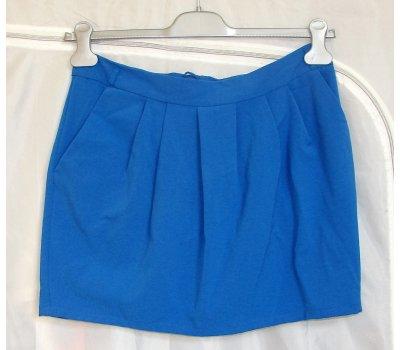 0892 Dámská ,dívčí holčičí krátká modrá sukně značky Papaya velikost 12 (40)