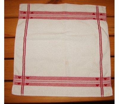 1284 použitý bílý malinký ručník -předložka