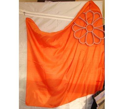 0903 Oranžový čtvercový šátek 82x82 cm