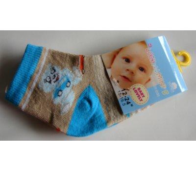0695 malinké ponožky vel 15,5-16,5 na 12-24 měsíců