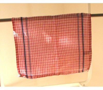 0739-08011 červená utěrka bavlněná 58 x 35 cm