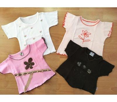Dívčí trička krátký rukáv (3 roky) - 4 ks