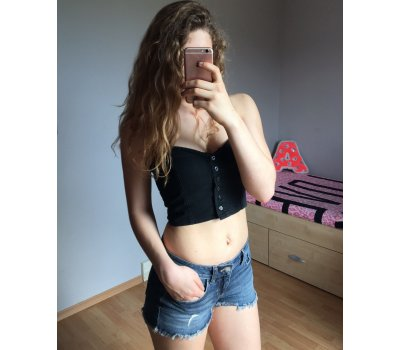 Džínové sexy tílko