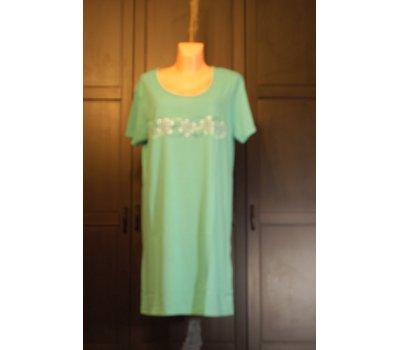 638 Dámská , dívčí ,noční košile TRIČKO NA SPANÍ NOČNÍ KOŠILE SMARAGDOVĚ ZELENÁ