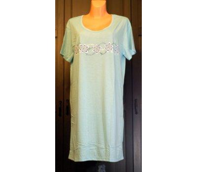 639 Dámská , dívčí ,noční košile L modrá-pozor malý flek