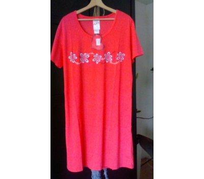 641 Dámská , dívčí ,noční košile -tmavorůžová L