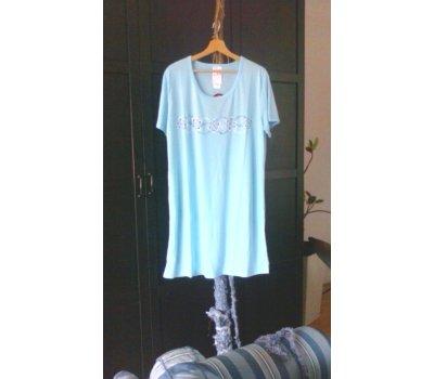642 Dámská , dívčí ,noční košile -modrá XL