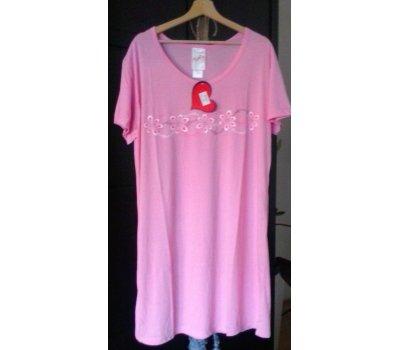 644 Dámská , dívčí ,noční košile -růžová L