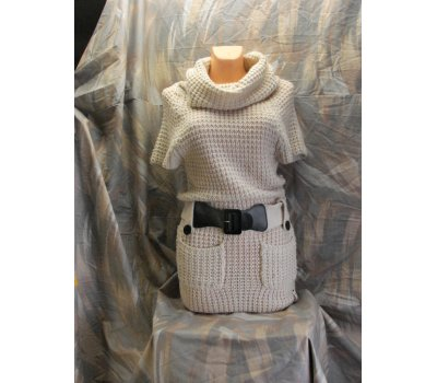 887 Dívčí,dámské smetené pletené šaty svetr,vesta s krátkým rukávem značky ONLY velikost S