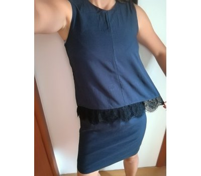 Dámské dvoudílné šaty s krajkou Esprit