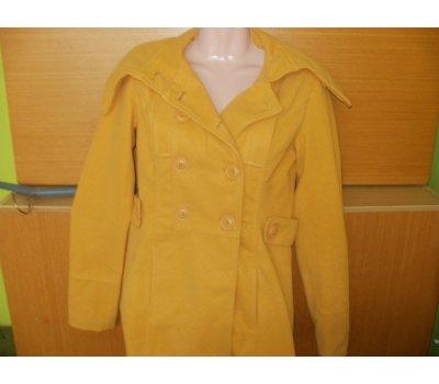 VÝPRODEJ- žlutý tříčtvrteční kabátek moderního střihu