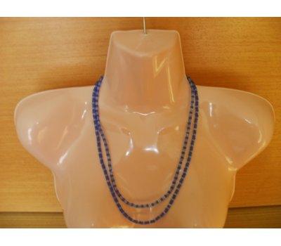 Elegantní modrý dvouramenný náhrdelník