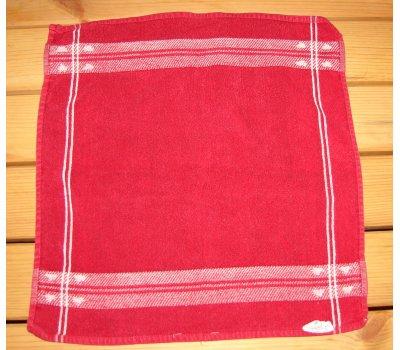 1287 použitý červený malinký ručník -předložka