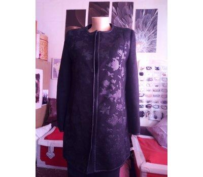 černý přechodový kabát Zara