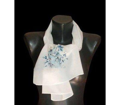 Krásný jemný šátek s potiskem