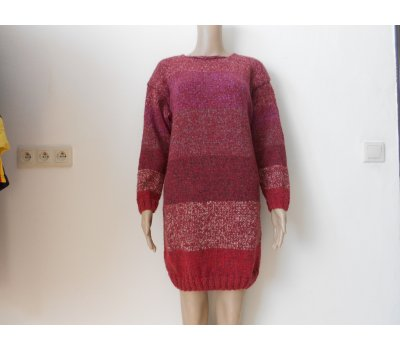 Dámský maxi svetr - šaty s vlnou