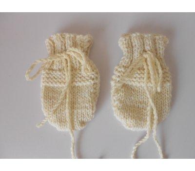 Kojenecké rukavičky merino