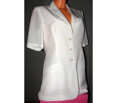 00125 Bílé šaty /sáčko vel.38 Jean Claire
