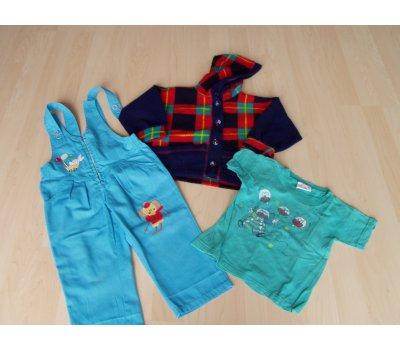 Chlapecká bunda, tričko, kalhoty